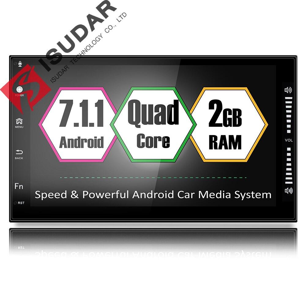 Isudar Polegada 7 Universal Car Multimedia player 7.1.1 2 din android Para Volkswagen/Passat b5/Toyota/corollaNissan /Tiida/QASHQAI