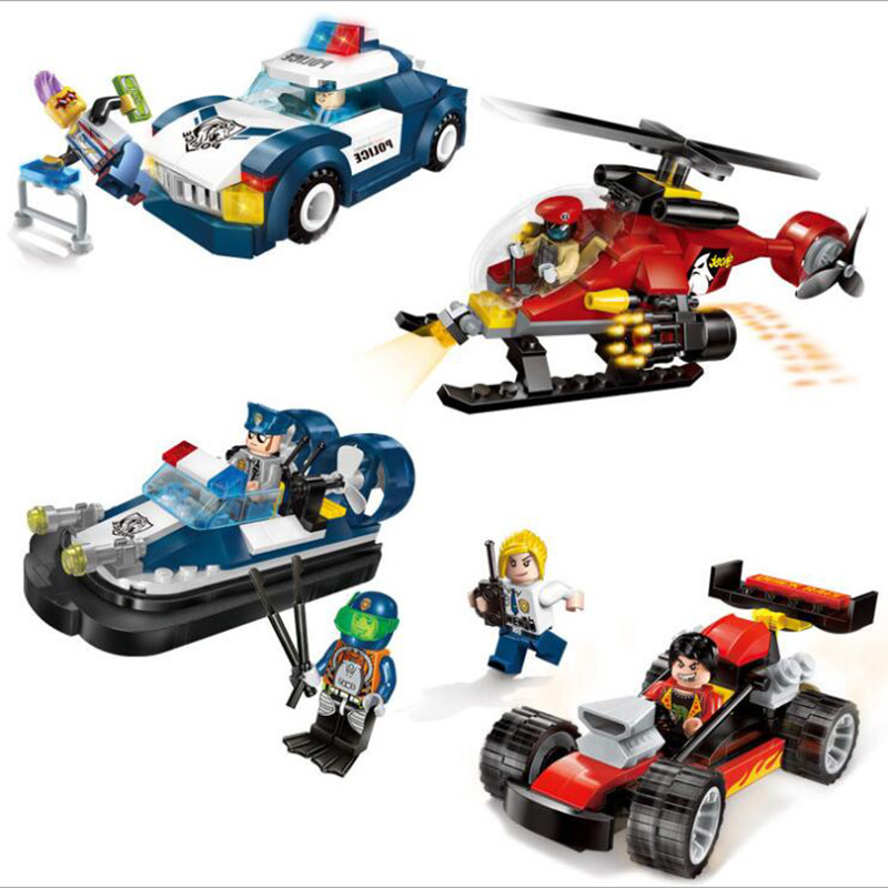 900PCS Special Police Clan  Assembled Plastic Fight Building Blocks Toy Kids Gifts Four Set Kids Toys K0384-1901