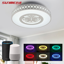 WIFI Intelligent Voice Control LED Ceiling Lights Modern Colorful Smart Light Dimmable Home Lamp For Bedroom Kitchen Living room