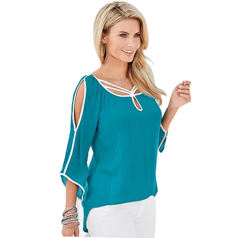 fashion Women   Blouses     Shirts   Casual Chiffon Office Summer Work Wear Cold off Shoulder   Blouse     Shirt   Tops Blusas Femininas LJ1283C