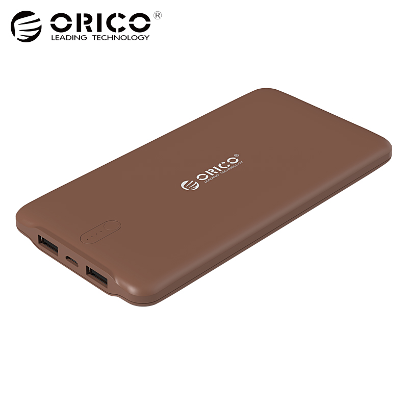 ORICO 10000 mah Power Bank Dual USB Externe Li-polymer Batterie 2.4A Power Bank Smart Identifizierung Ladegerät Universal