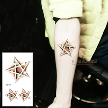 Trendy Waterproof Temporary Tattoo Stickers 3D Cute Stars Metallic Designs Body Art Small Neck For Men Women Arm Shoulder QS117