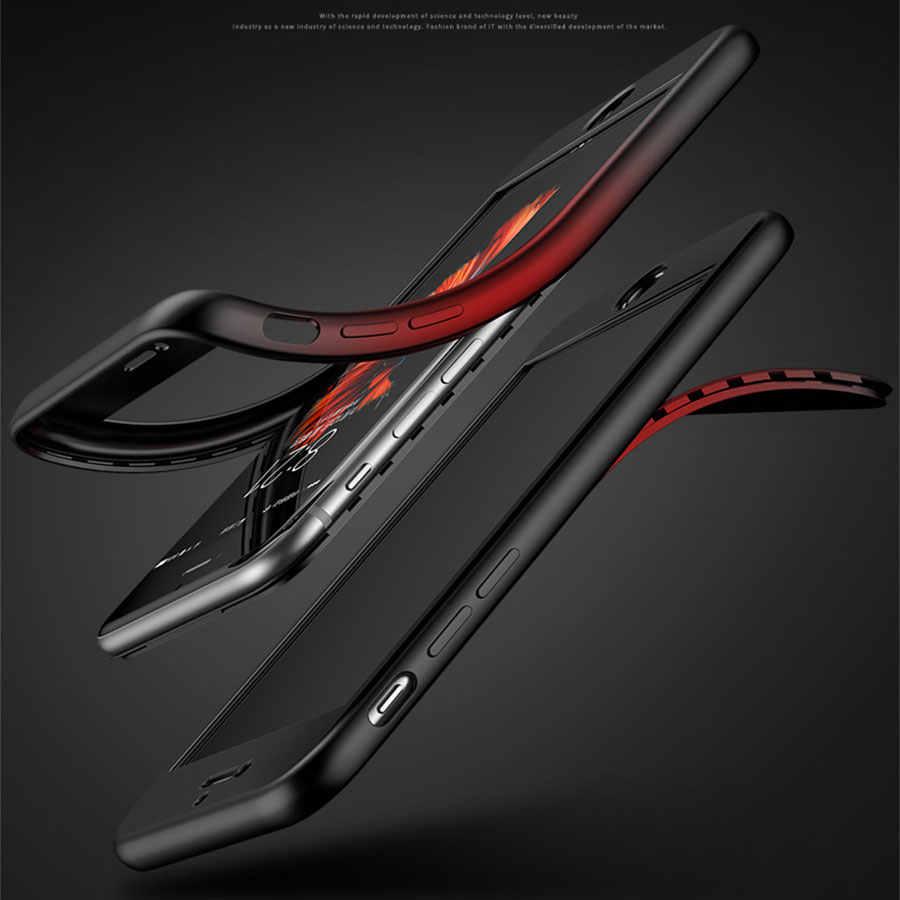 360 سيليكون كامل حقيبة لهاتف أي فون 7 زائد 6 s 6 8 X XR XS ماكس هواوي P30 برو P20 زميله 20 الشرف 10 8A 8X9 لايت غطاء الهاتف حالات