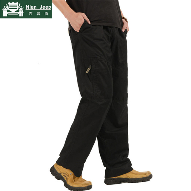 2018 New Men's Cargo Pants Casual Loose Military Tactical Pants Plus Size 5XL 6XL Multi-Pocket Overall Baggy Male Long Trousers 1