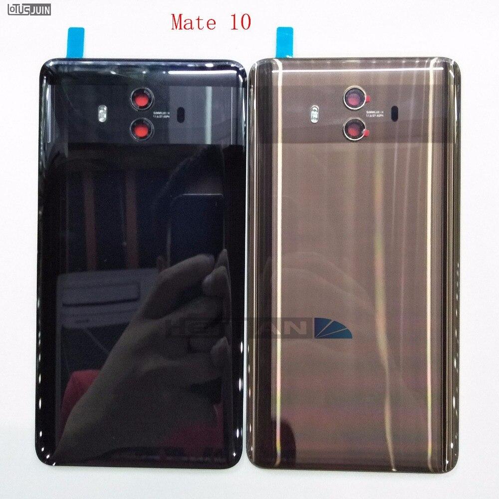 Couvercle de batterie arrière d'origine pour Huawei Mate 10 couvercle de porte en verre arrière avec pièces de rechange adhésives autocollantes