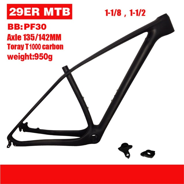 Cheap 29er Chinese Factory Carbon Frames 15/17/19/21 inch 29er Carbon Mountain Bike Frames Carbon MTB Frame EMS free shipping
