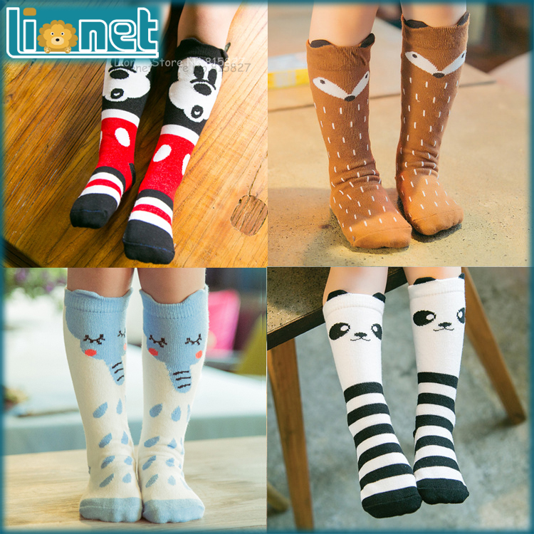 Brand Designer Soft Cotton Children Socks Casual School Boys Girls Socks Kawaii Kids Knee Socks Christmas Gift For Your Baby