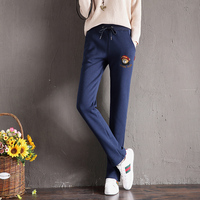 Sweatpants Femme Warm Thick Winter Trousers Warm Girls Polyester Pants Velvet Thicken Trousers Woman Harem Trousers