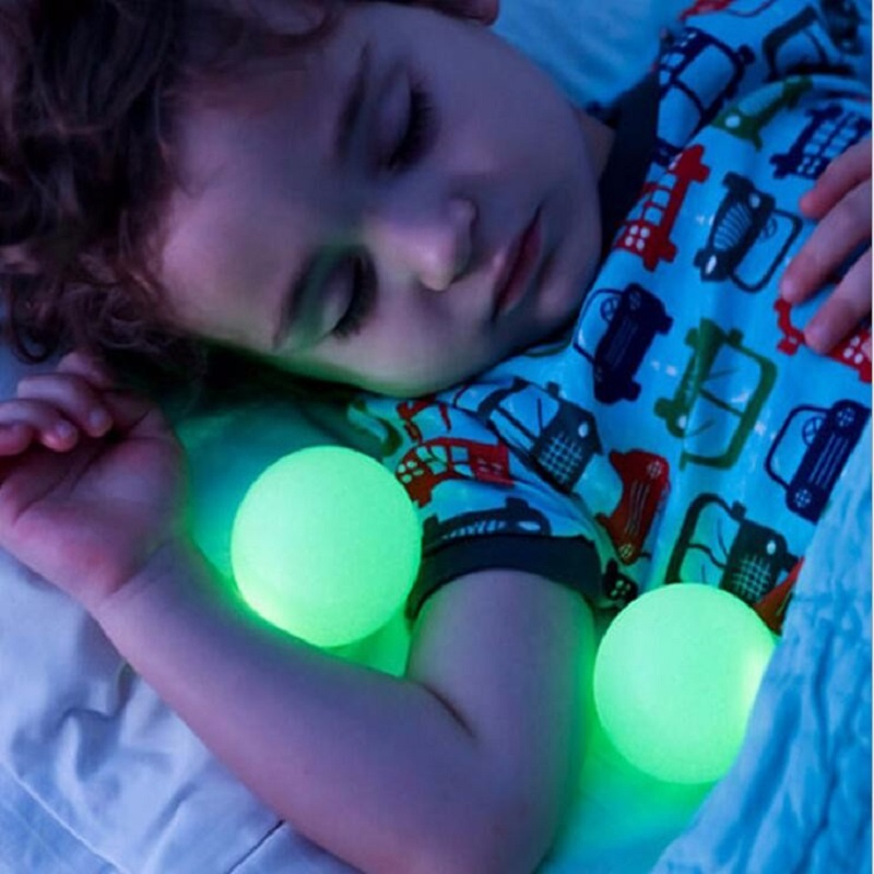 Creative Mushroom Led Night Light Colorful Glowing Table Lamp Removable Balls Children Sleeping Toy Lights Bedroom Bedside Lamps