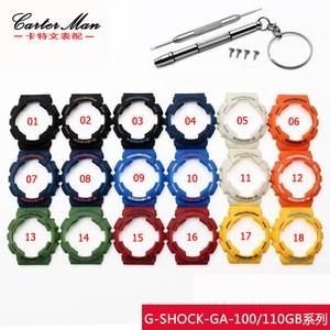 Image 3 - Bracelet de montre en caoutchouc de haute qualité + étui de montre pour Casio GA 110 GA100 GD 120 bracelet de montre en silicone pour hommes