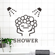 Baby Shower Bathroom Bubble Wall Stickers Waterproof Glass Sliding Door Window Shower Room Wall Art Decals Poster Mural