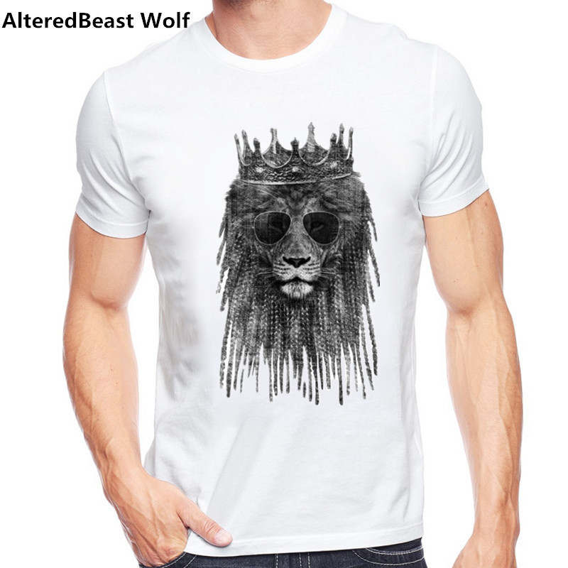 b58d25af Aliexpress.com : Buy Summer Men's T Shirts Funny lion king Printed T Shirt  Fashion Novelty Short Sleeve Tee Tops Homme O neck Men Tee Shirts from  Reliable ...