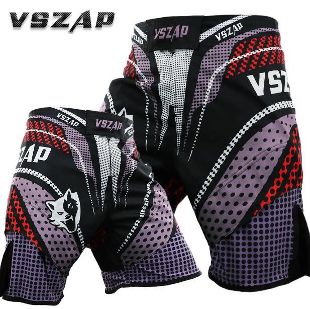 VSZAP Sports fighting Thai boxing shorts fight MMA fitness free running martial arts Lin fengmen
