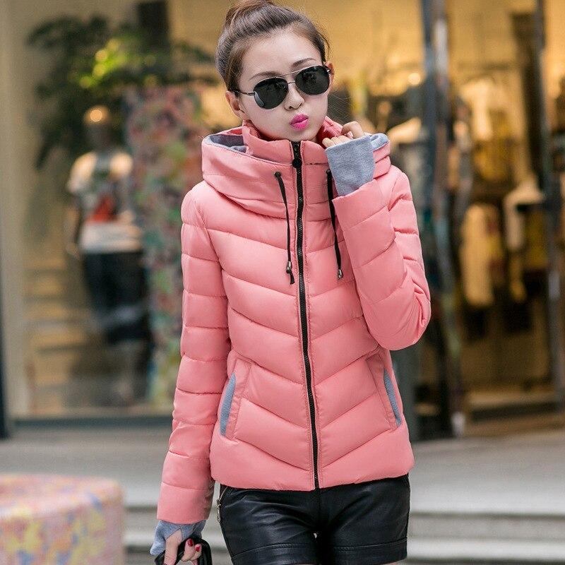 ФОТО 2017  Women's Jacket Jacket New Short Student Winter Warm Coat Thick Collar Collar Big Cotton Jacket