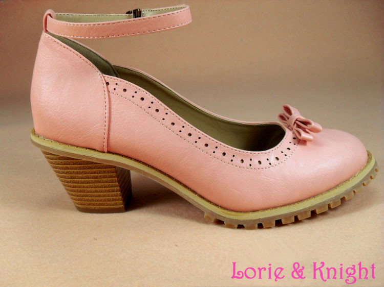 ФОТО British Elegant Style Mary Jane Medium Chunky Heel Shoes Vintage Lolita Round Toe Shoes