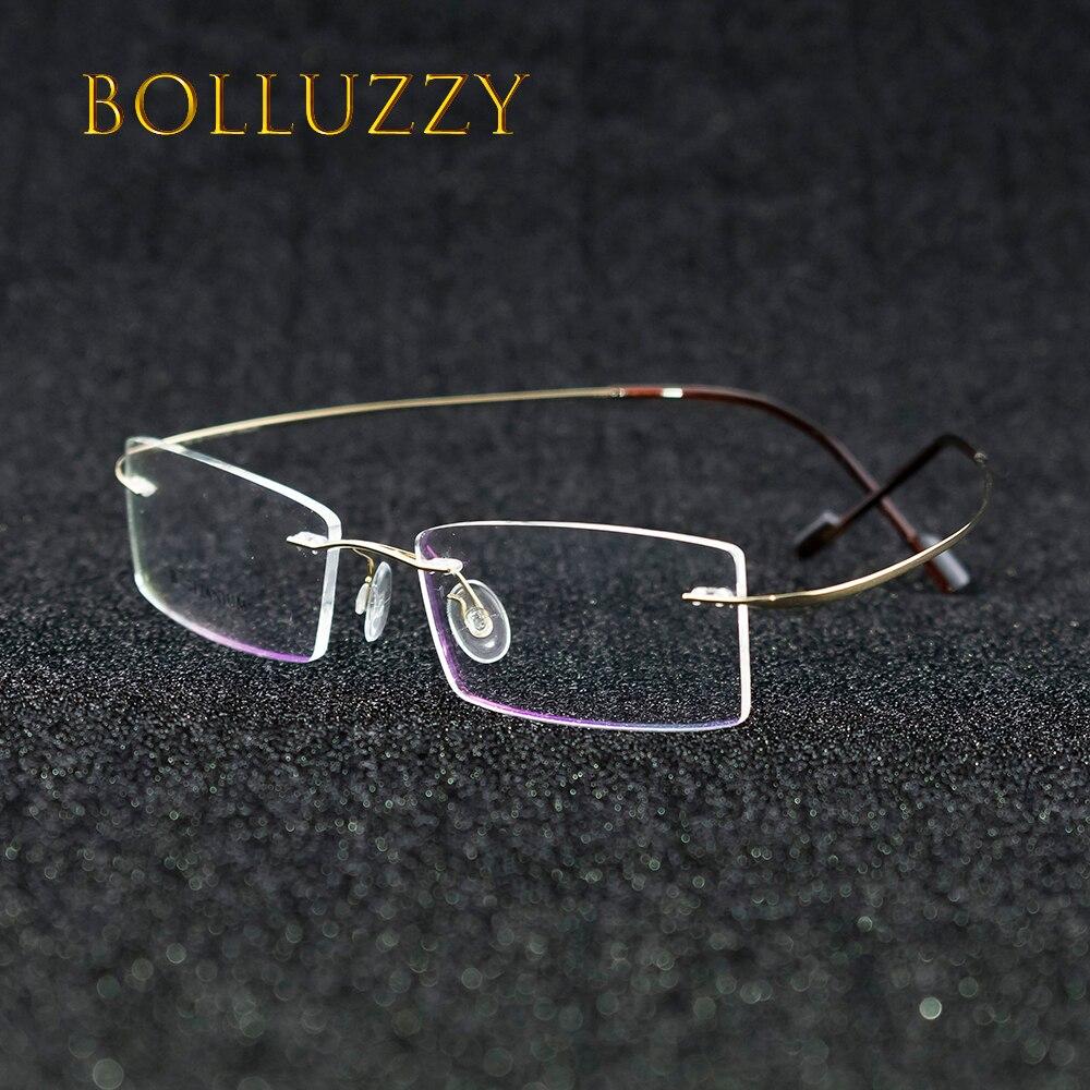 38fb41b78 بدون شفة التيتانيوم oculos دي سول الرجال النساء الزجاج البصري 1618 الطبية  ضوء النظارات المعدنية للجنسين النظر التشذيب