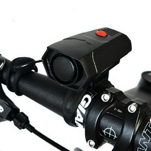 Cycling Horns Electronic Bike Bicycle Handlebar Ring Bell Horn Strong Ultra-Loud Air Alarm Bell Sound 5 Sound Effects Black