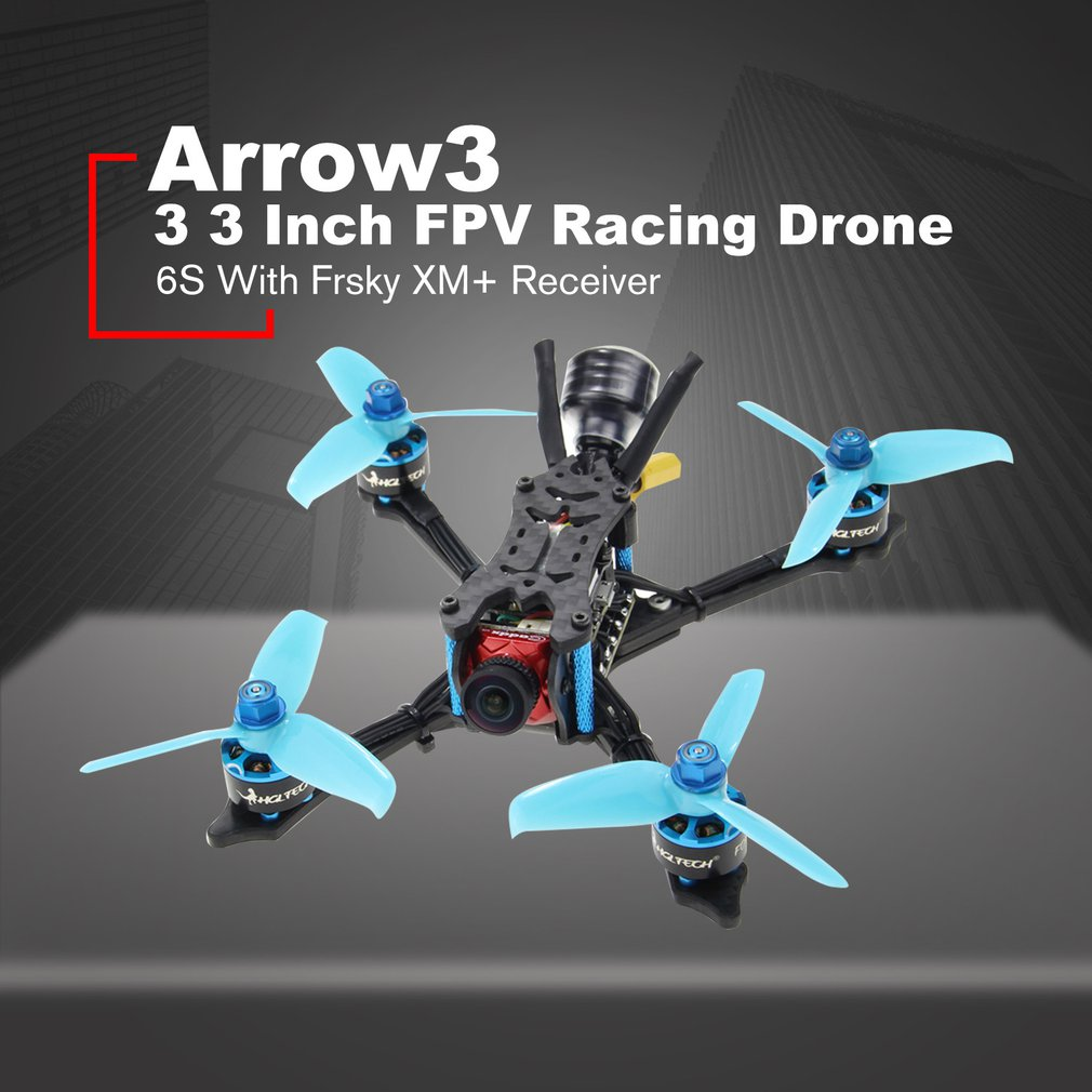 HGLRC Arrow 3 FPV Racing Drone 6S PNP Quadcopters With Frsky XM+ Receiver F4 FC 1408 Motor 45A Blheli32 Caddx Ratel Camera Islamabad