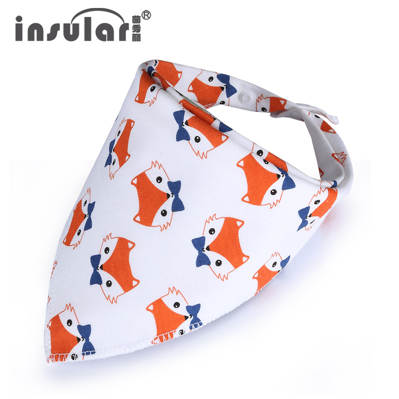 Fashion Baby Bandana Bibs Cotton Animals Baby Feeding Cloth Cartoon Baby Scarf Newborn Babador Children Burp Cloth Baby Towels