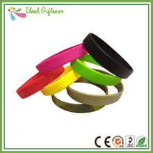 Custom promotion cheap rubber blank basketball wristband(China)