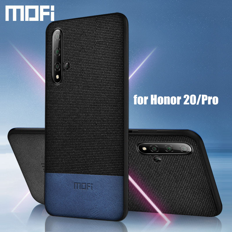 for Huawei honor 20 case cover MOFi original honor20 pro back cover fabric cloth protective silicone capas honor20 lite cases