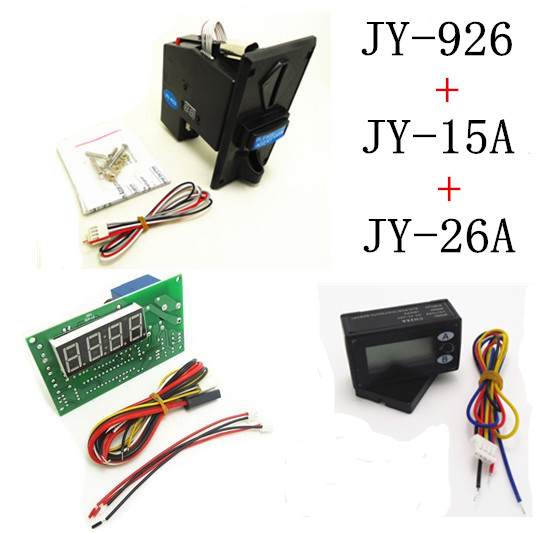JY-926+JY-15A+JY-26A coin operated time control device for cafe kiosk, multi coin selector with timer board and reset counter перчатки shirai jy c6135 308 shrai c6135