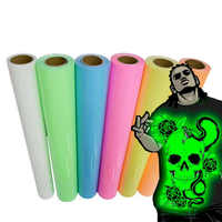 25cm*25cm Color luminous film, heat transfer film T-shirt Glowing at dark night Printing crop number patterns for sportswear