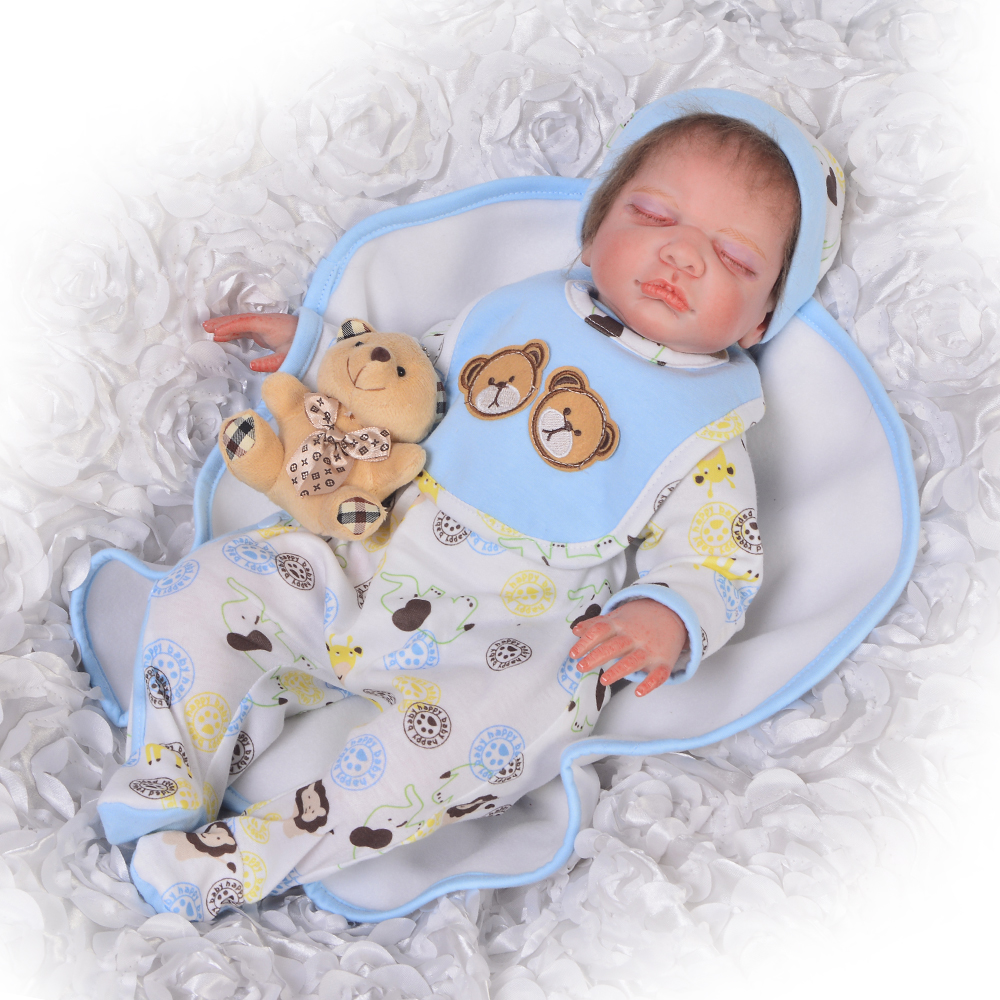Handmade 20 Inch Reborn Baby Dolls Close Eyes Soft Silicone Lifelike Babies Doll For Boy Kids DIY Toy Touch Real Birthday GiftsHandmade 20 Inch Reborn Baby Dolls Close Eyes Soft Silicone Lifelike Babies Doll For Boy Kids DIY Toy Touch Real Birthday Gifts