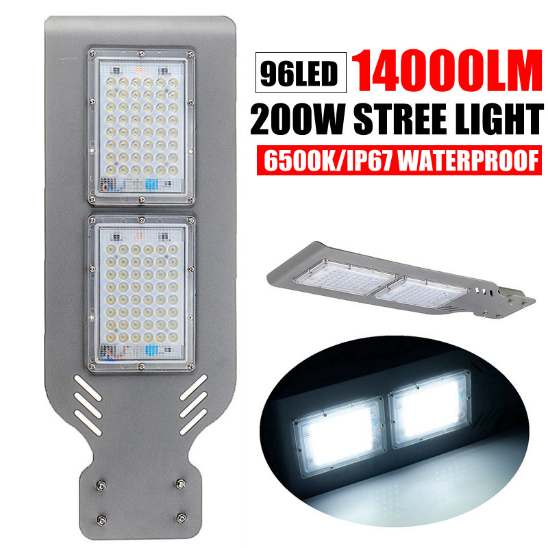 AUGIENB 200W 96 LED Street Light 14000LM Outdoor Lighting Garden Yard Wall Highway Parking Lot Security Lamp  IP67 Waterproof