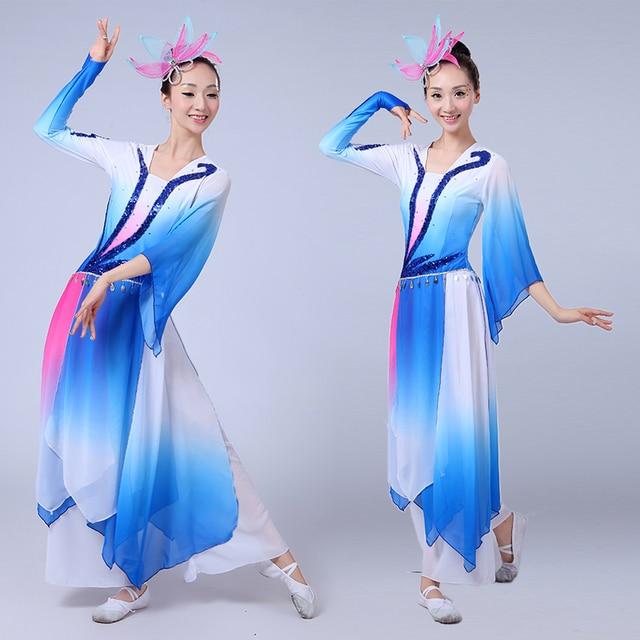 49c1c52b5 women elegant Chinese Folk dance costumes sequins Embroidery Hanfu ...