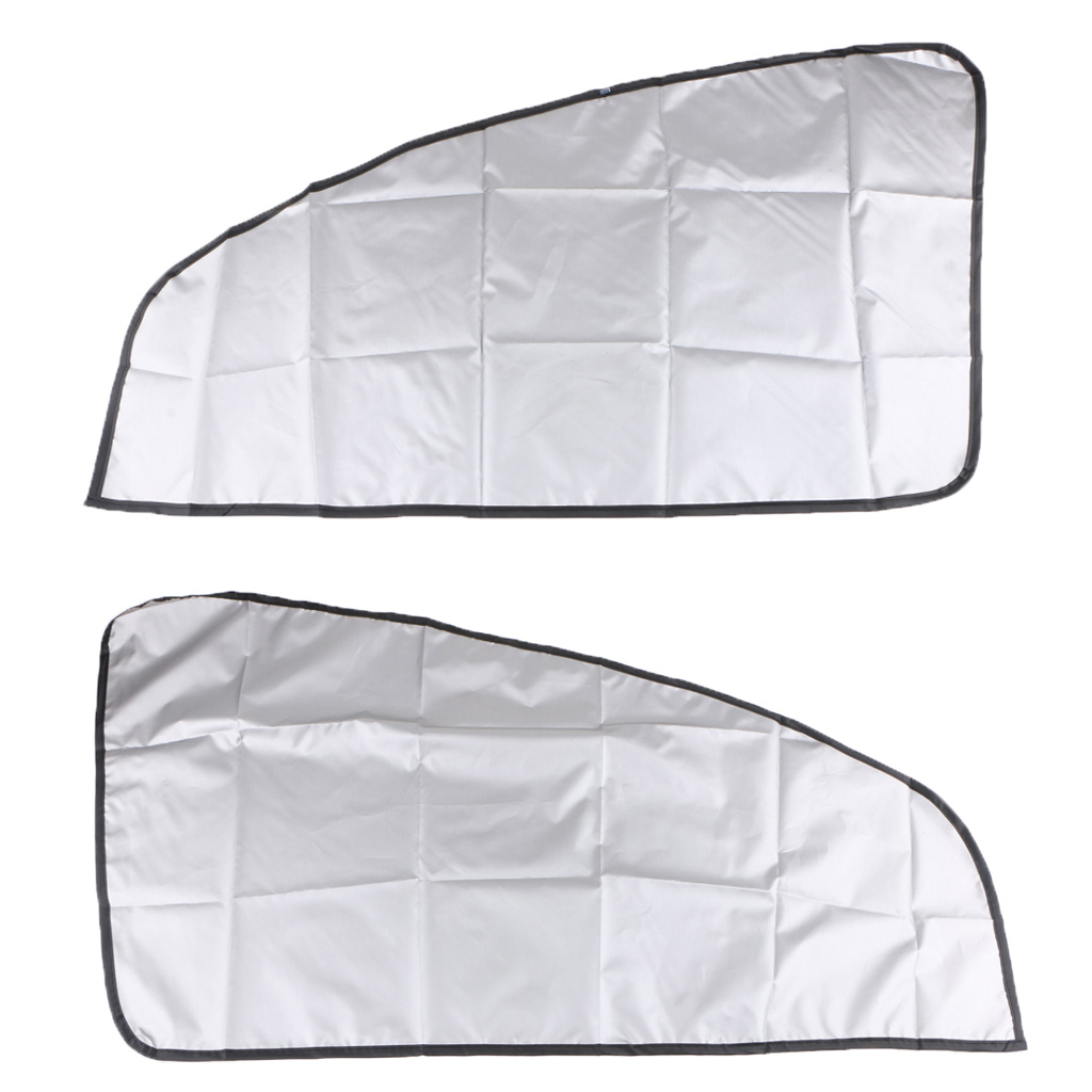 1 Pair Univeral Car Magnetic Sunshade Shield Curtains Double Sides For Auto Car Oblique Window