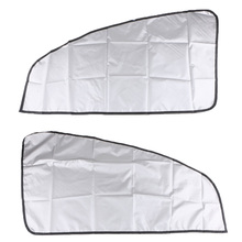 1 Pair Univeral Car Magnetic Sunshade Shield Curtains Double Sides For Auto Oblique Window