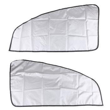 1 para uniwersalny samochód magnetyczny osłona przeciwsłoneczna zasłony podwójne boki dla Auto ukośne okno samochodu tanie i dobre opinie Dovewill