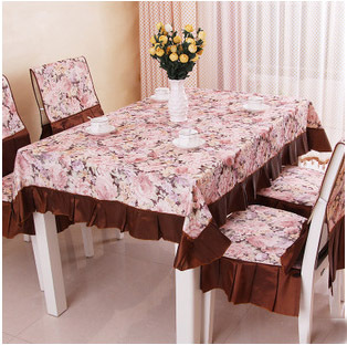 New Chinese Classic Floral Design Tablecloth Set Cusion Backrest Chair Cover Table Cloth Polyester Cotton Nappe de Table ZB012-in Tablecloths from Home ... & New Chinese Classic Floral Design Tablecloth Set Cusion Backrest ...