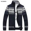 Aolamegs Männer Gestrickte Pullover Jacquard Winter Warme Weiche Pullover Hohe Qualität Mode Lässig Männlichen Rollkragen Strickwaren Herbst