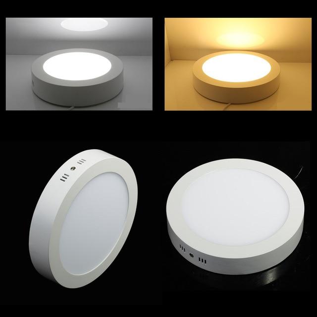 Нет резки светодиодный потолочный светильник 9 Вт 15 Вт 25 Вт для поверхностного монтажа светодиодные панели вниз свет с водителем Бесплатная доставка