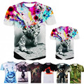Galaxy Space Printed Creative 3D t shirt ,men's summer novelty feminina psychedelic tee shirts, Ugly Clothing Bomber Printed T