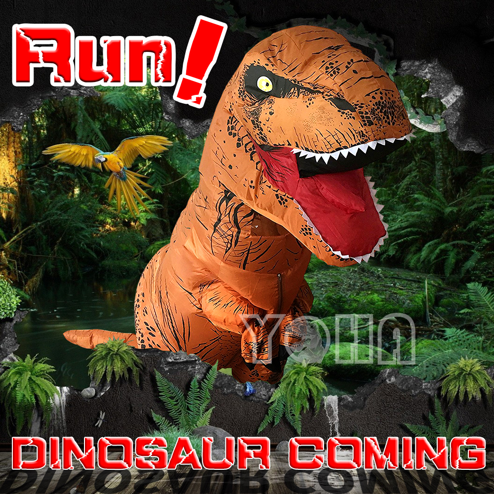 Dinosaur Suit T-rex Costume Inflatable Suit Jurassic Performance Clothing Halloween Costum Funny Clothes