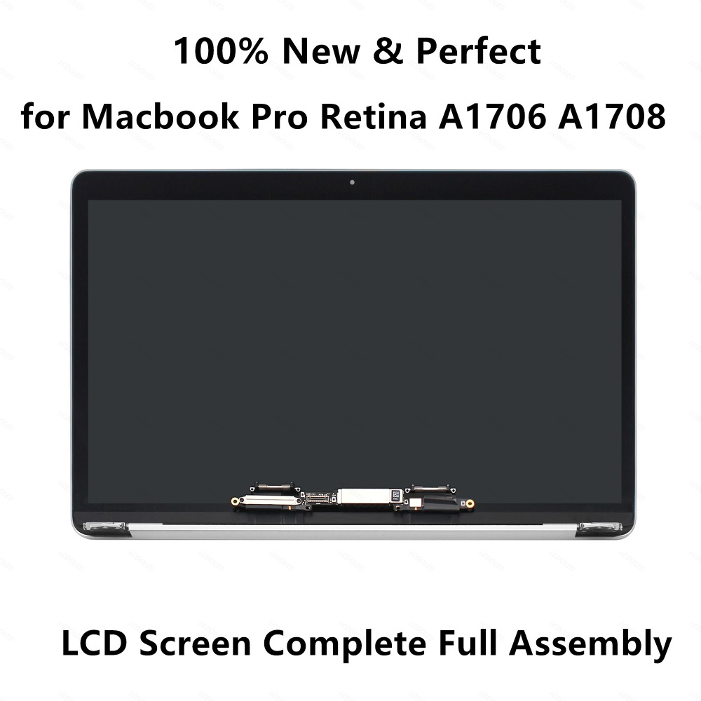 Genuine New LCD Screen Display Complete Full Assembly for Macbook Pro Retina 13 A1706 EMC 3071 A1708 EMC 3164 Space Grey Silver