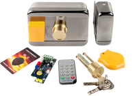 FCL 988M Free shipping Fingerprint RFID Access Control System Kit Frame Glass Door Set+Electric Magnetic Lock+Card Keytab+Pow