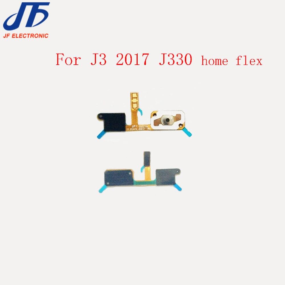 US $35 5  For Samsung Galaxy J3 2017 J330 J330F Home Button Key Return  Light Sensor Menu Keyborad Flex Cable 50pcs/lot-in Mobile Phone Flex Cables