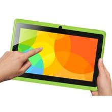 Envío Gratis 5 color Yuntab 7 pulgadas Android Tablet Q88, 1024*600 A33 Quad Core 512 MB + 8 GB de Doble Cámara, soporta WIFI 3G Externo