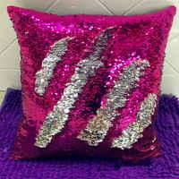 Двусторонний чехол для подушки с блестками и сменой цвета