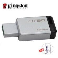 Kingston флеш-накопитель USB 3,0 16 Гб оперативной памяти, 32 Гб встроенной памяти, 64 ГБ 128 ГБ USB 3,1 умственную флэш-накопитель Trans 110 МБ/с. читать 8 Гб карта памяти
