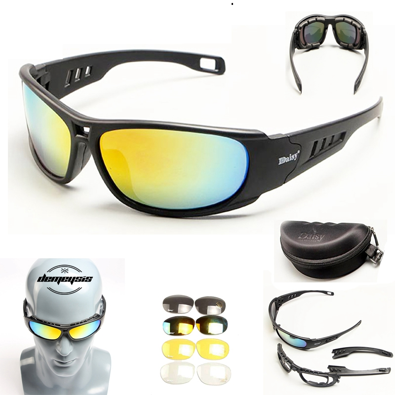 Polarized Military Sunglasses Airsoft Tactical Shooting Glasses UV400 War Game Outdoor Sport Hiking Glasses