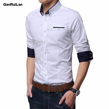 Men's Wedding 2018 Shirt Long Sleeve Men Dress Shirt Business Solid Color Casual Shirts Work Wear Formal Slim Shirt Man CY18001