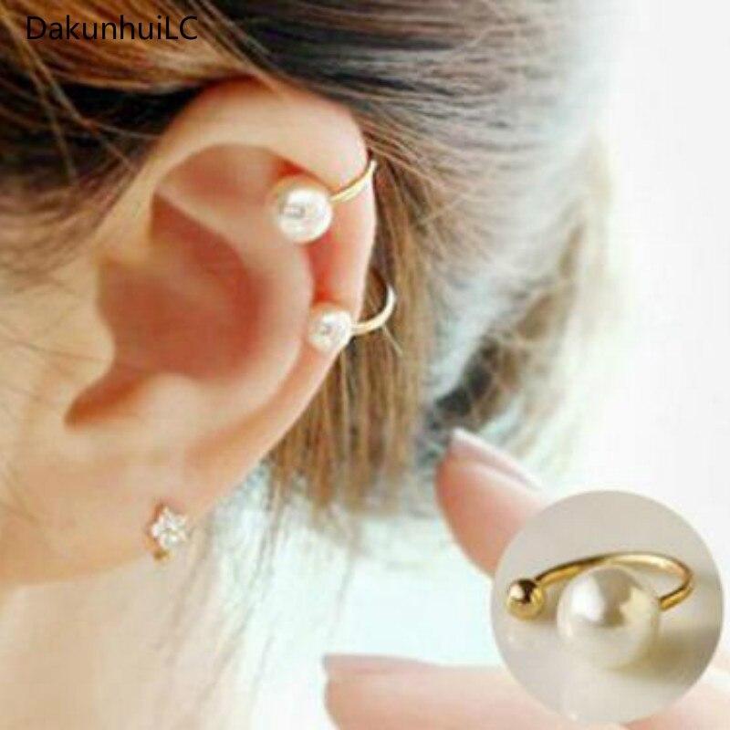 2019 Amazing Price! New Clip Earrings Imitation Pearl Jewelry Earrings Pear Earrings Wedding Cuff Clip