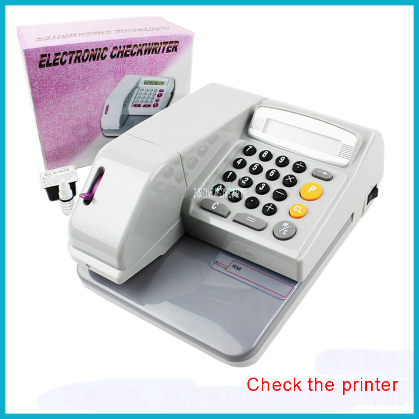 220V/ 50 Hz Checks Printer 1 word / second Print speed 3.5W Check Printer ,Checkers Malaysia Hong Kong United States Singapore