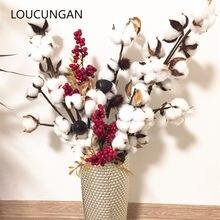 Fleurs décoratives séchées en coton artificiel, fausses branches, pour un mariage, pour une fête à la maison