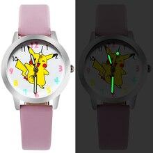 Ot02 2016 горячие продажа мода Pocket Monster Пикачу мультфильм смотреть дети часы дети мальчик прохладный кварцевые часы часы детские часов подарок